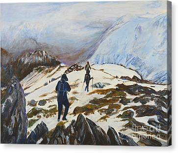 Climbers - Painting Canvas Print
