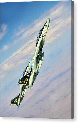 Climbing Cats Canvas Print by Peter Chilelli
