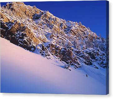 Climbing In Little Cottonwood Canyon Canvas Print