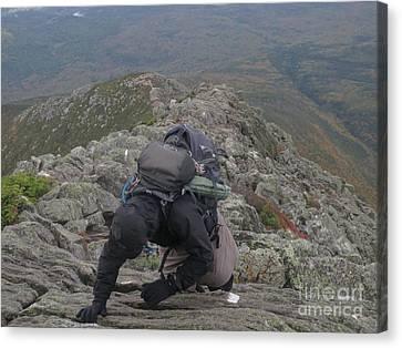 Climbing Mt. Katahdin Canvas Print