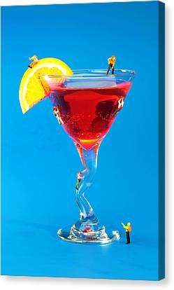 Climbing On Red Wine Cup II Canvas Print