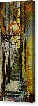Climbing Stairs Of Paris Canvas Print by Dragica  Micki Fortuna