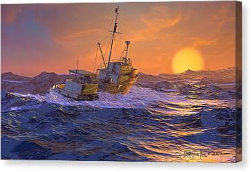Climbing The Sea Canvas Print by Dieter Carlton