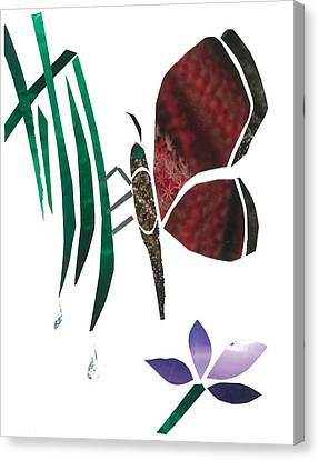 Invertebrates Canvas Print - Clinging Butterfly by Earl ContehMorgan