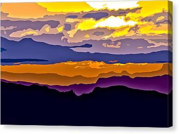 Canvas Print featuring the photograph Clingman's Sunrise Cut by David Stine