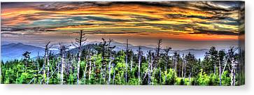 Clingmans Sunset Panoramic Canvas Print