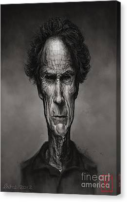 Clint Eastwood Art Canvas Print - Clint Eastwood by Andre Koekemoer
