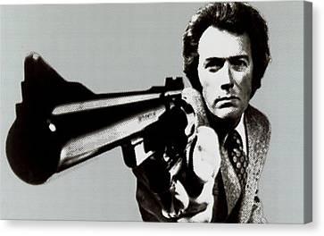Clint Eastwood Big Gun 2 Canvas Print by Tony Rubino