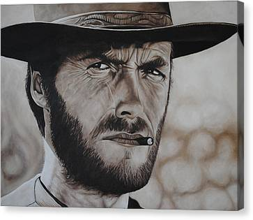 Clint Eastwood Canvas Print by David Dunne