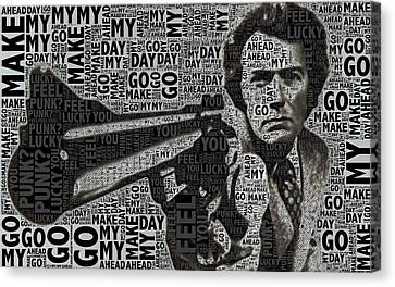 Clint Eastwood Dirty Harry Canvas Print by Tony Rubino