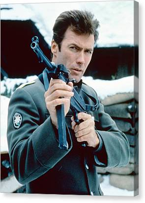Clint Eastwood In Where Eagles Dare  Canvas Print by Silver Screen