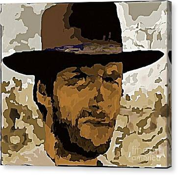 Clint Eastwood Canvas Print by John Malone