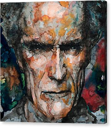 Clint Eastwood Canvas Print by Laur Iduc