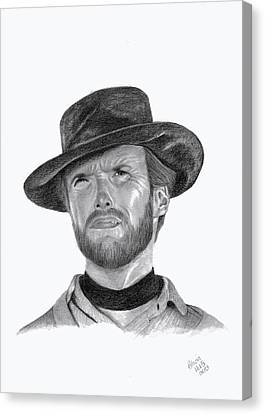 Clint Eastwood Canvas Print by Patricia Hiltz