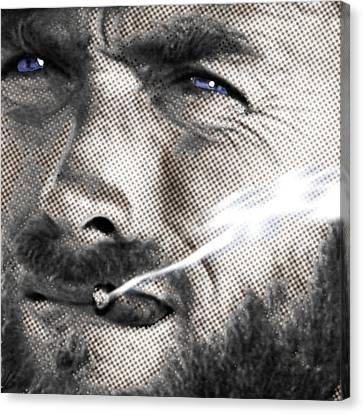 Clint Eastwood Western Canvas Print by Tony Rubino