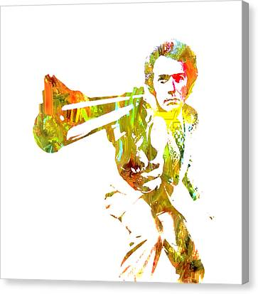 Harry Callahan Canvas Print - Clint Easwood 3a by Brian Reaves
