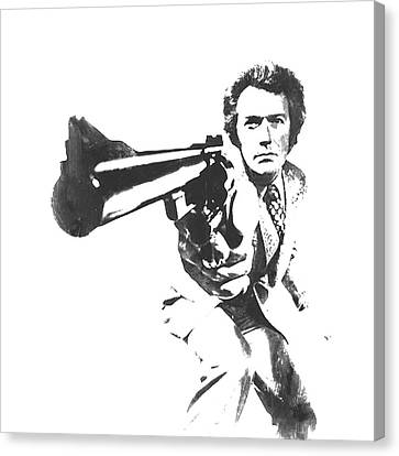 Harry Callahan Canvas Print - Clint Easwood 3b by Brian Reaves