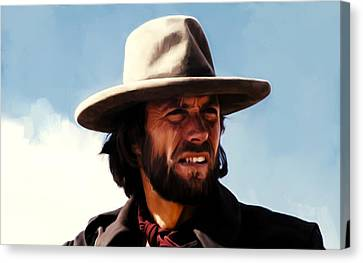 Harry Callahan Canvas Print - Clinton Eastwood 4a by Brian Reaves