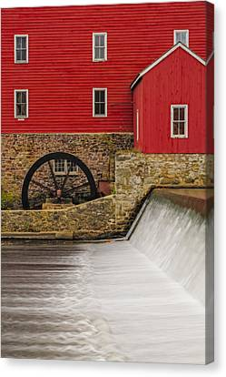 Clinton Historic Red Mill Canvas Print