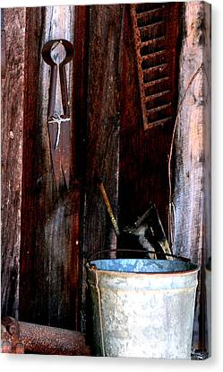 Canvas Print featuring the photograph Clippers And The Bucket by Lesa Fine
