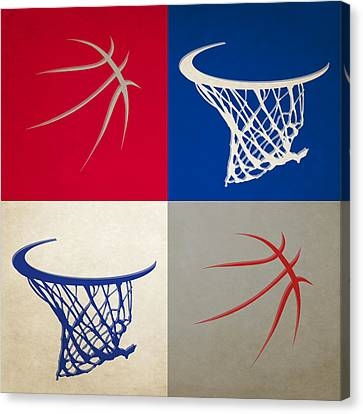 Los Angeles Clippers Canvas Print - Clippers Ball And Hoop by Joe Hamilton