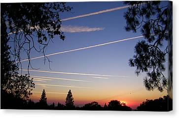 Cloaked Airplanes Canvas Print