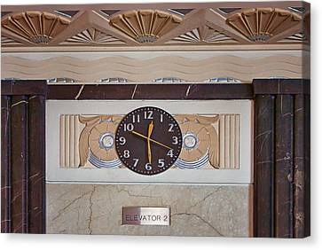Panel Door Canvas Print - Clock - Art Deco - Interior Design by Nikolyn McDonald