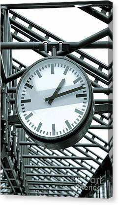 Clock Canvas Print by Design Windmill