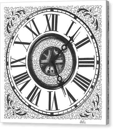 Clock Face Drawing by Adam Vereecke