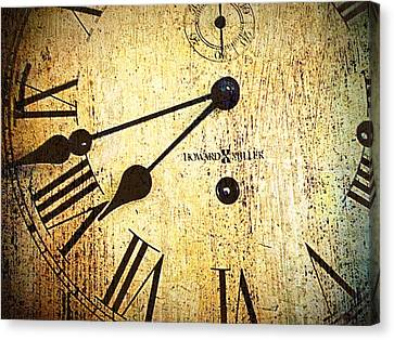 Clock Face Canvas Print by Suzanne Powers
