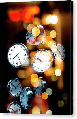 Clock Faces Canvas Print by Victor Habbick Visions