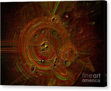 Canvas Print featuring the digital art Clockwork by Alexa Szlavics