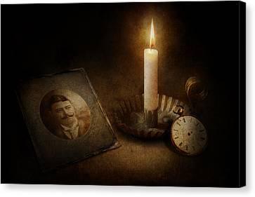 Clock - Memories Eternal Canvas Print by Mike Savad