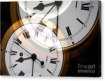 Clock Canvas Print by Natalie Kinnear