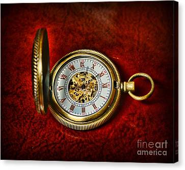 Clock - The Pocket Watch Canvas Print by Paul Ward