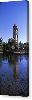 Clock Tower At Riverfront Park Canvas Print by Panoramic Images