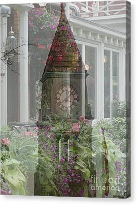 Clock Tower Canvas Print by George Mount