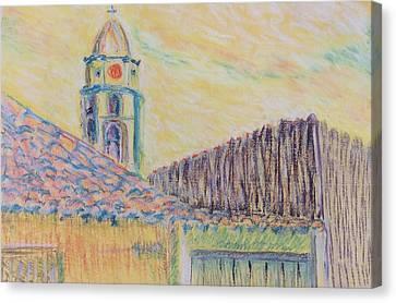 Clock Tower In Havana Cuba Canvas Print