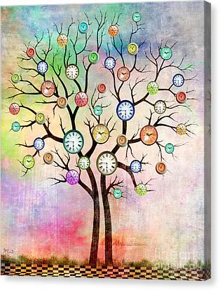 Clock Tree  Canvas Print by Mark Ashkenazi