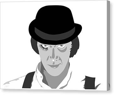 Clock Work Orange Malcolm Mcdowell Canvas Print by Paul Dunkel