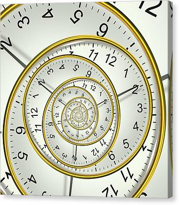 Clockface Spacetime Warp Canvas Print by David Parker