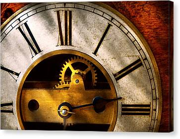 Clockmaker Canvas Print - Clockmaker - What Time Is It by Mike Savad