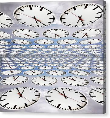 Clocks Canvas Print by Victor De Schwanberg