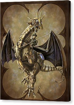 Clockwork Canvas Print - Clockwork Dragon by Rob Carlos