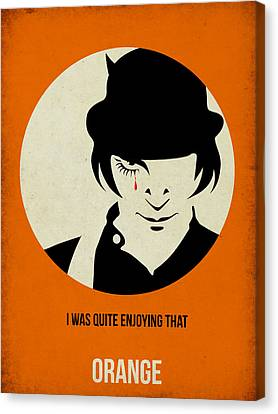 Clockwork Orange Poster Canvas Print by Naxart Studio