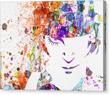 Clockwork Orange Watercolor Canvas Print by Naxart Studio