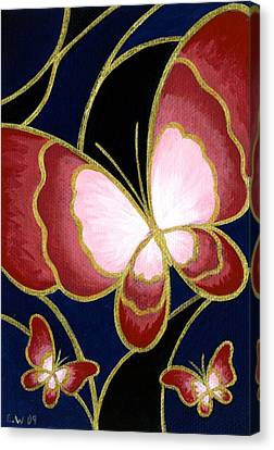 Cloisonne Butterfly Canvas Print by Elaina  Wagner