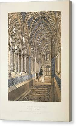 Cloister Of The Mediaevel Court Canvas Print by British Library
