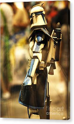 Clone Trooper Canvas Print by Micah May