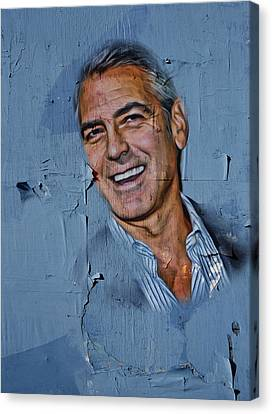 Clooney On Board Canvas Print